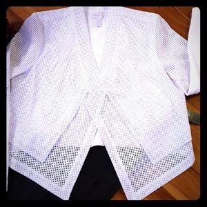 NWT Chico's Vegan Leather Perforated Crop Jacket